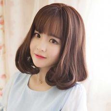 假发女梨花头短发内扣中长时尚蓬松韩国发型整顶空气齐刘海长卷发