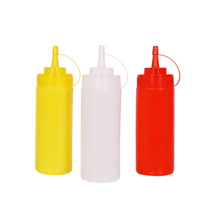 24oz Plastic Squeeze Bottle Pulp Condiment Bottles with Twis