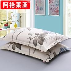 阿格莱亚全棉斜纹枕套一对装48 74纯棉枕头套学生枕芯套特价包邮