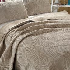 出口绒面绣花绗缝被AB版床盖三件套欧式床罩衍缝床单床罩纯棉水洗