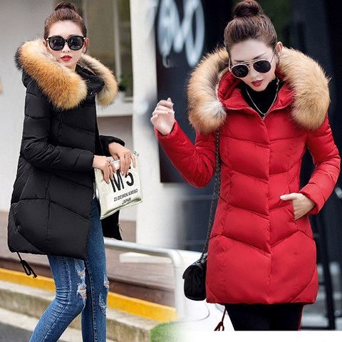 天天特价2016秋冬季韩版新款棉服中长款棉衣女加厚修身大码外套装女士棉衣