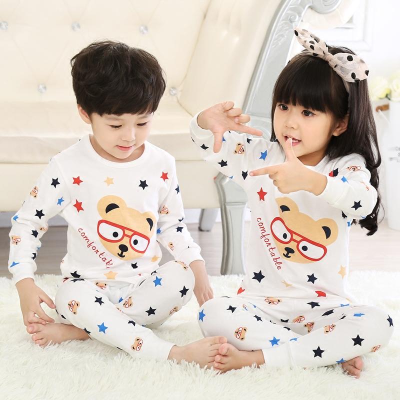 儿童内衣纯棉中大童秋衣秋裤男童女童宝宝睡衣打底婴儿保暖衣套装婴儿服