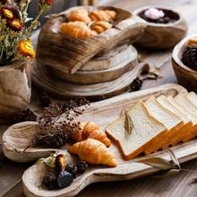 左岸麦田 美式田园家居装饰原木托盘 客厅手工实木果盘收纳盆器皿