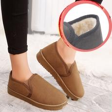 棉鞋女妈妈鞋中老年加绒保暧松糕软底舒适厚底居家室内包跟棉拖鞋