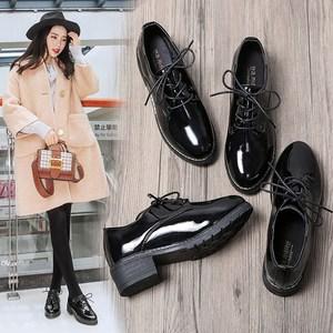 软妹小皮鞋子<span class=H>单鞋</span>女2018新款百搭ulzzang英伦韩版黑色鞋子女学生