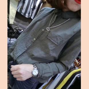 春季新款棉麻衬衫宽松显瘦打底衬衣休闲文艺时尚百搭亚麻长袖女装