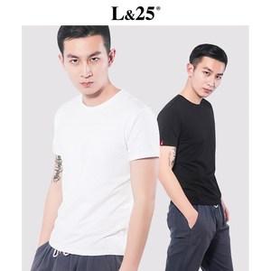 L25夏季圆领修身T恤男短袖打底潮流韩版体恤白色男士半袖<span class=H>男装</span>上衣
