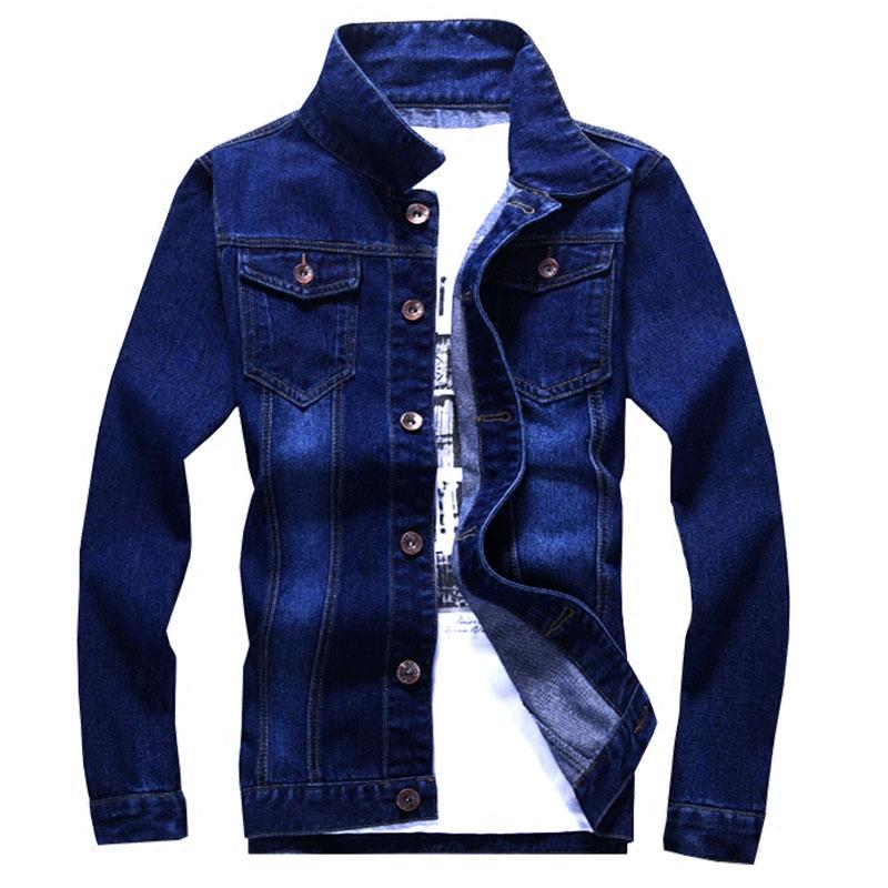 牛仔外套男士韩版潮流修身帅气薄款加绒夹克春秋季衣服裤子一套装男士夹克