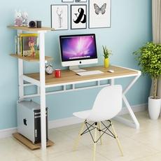台式电脑桌家用组合书架简约式 现代办公儿童书桌简易卧室写字台