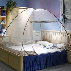 免安装钢丝蚊帐单门懒人自动有底可折叠蒙古包单人床1.2m1.5米1.8