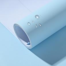 加厚pvc纯色墙纸自粘防水壁纸宿舍卧室即时贴素色家具翻新贴纸