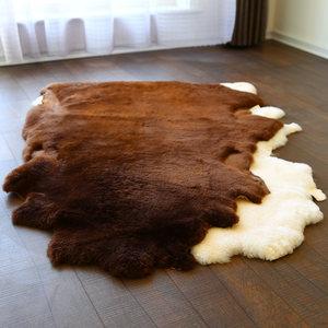 整张短羊毛<span class=H>地毯</span>客厅卧室床边<span class=H>地毯</span>羊毛沙发垫羊剪绒整张羊皮