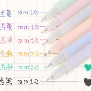五彩简约黑多套装弹性0.38mm彩色签字时尚签字笔漂亮儿童中性笔