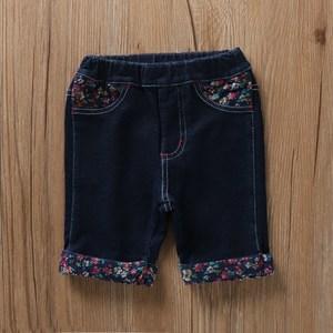 2018夏新款儿童<span class=H>仿</span><span class=H>牛仔</span><span class=H>短裤</span><span class=H>女童</span>宝宝弹力<span class=H>牛仔</span>五分裤热裤外穿针织