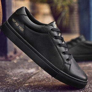 <span class=H>男</span>鞋冬季潮黑色休闲<span class=H>板鞋</span>韩版皮鞋子运动加绒百搭保暖英伦<span class=H>男</span>士棉鞋