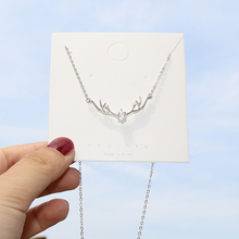 A deer has your S925 silver necklace. Female Korean version of simple student Mori's elk antler clavicle chain gifts