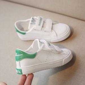 回力童鞋秋冬新款女童学生小白鞋子男童魔术贴帆布鞋板鞋运动鞋潮