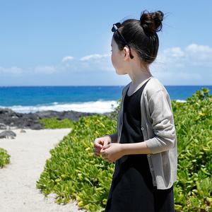 女童<span class=H>开衫</span>夏季新款洋气针织冰丝空调衫儿童薄款防晒衣春秋外搭外套