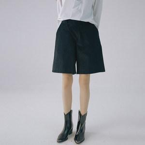 黑色灯芯绒立体剪裁阔腿<span class=H>中裤</span>JIAXINXU原创独立设计师品牌秋冬新品