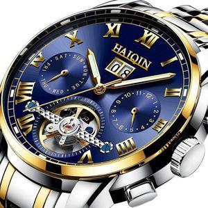 正品全自动<span class=H>机械</span>表<span class=H>男表</span>钢带时尚手表男士日历表夜光防水学生手表