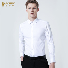 White shirt, men's long sleeves, business suit, white body, thin shirt, young man, professional code worker.