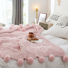 Chenille ball blanket knitted blanket wool coarse knitted blanket bed tail blanket decorative sofa blanket nap blanket