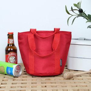 出口日本便当包学生白领时尚红色手提<span class=H>饭盒</span>袋日式保温包小号午餐包
