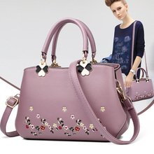 Women's Bag New Fashion Mid-aged Women's Bag Mother's Bag Embroidery Handbag