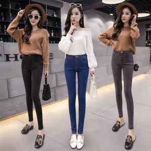 青少年女春夏装牛仔紧身裤两件套装初中高中学生秋季休闲连体长裤