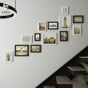 楼梯照片墙<span class=H>相框</span>挂墙洗创意组合走廊过道<span class=H>背景墙</span>相册框墙面简约装饰