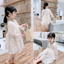 Girls Spring Dress 2019 Spring Dress New Children's Westernized Mesh Skirt Baby Lace Fairy Princess Skirt