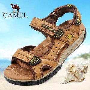 Camel/骆驼<span class=H>男鞋</span> 2018夏季新款磨砂牛皮户外休闲凉鞋 厚底<span class=H>沙滩鞋</span>子