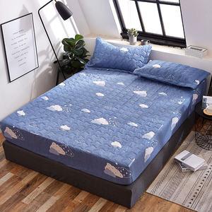 床笠单件防水<span class=H>床罩</span>保护套防尘罩加厚夹棉床套隔尿垫可机洗1.8m防滑