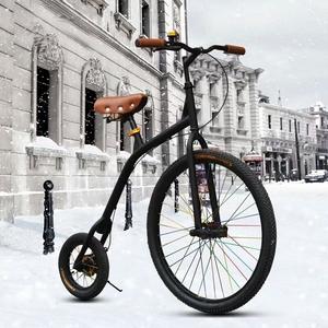 城市英伦复古 大小轮单公主轻便通勤 男女士休闲学生<span class=H>自行车</span>