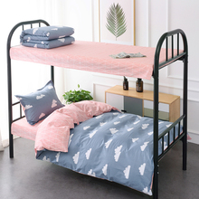 Cotton Bed Sheet Three-piece Set Student Dormitory Single 1.2m Bedding 0.9m Children's Bedding Cover Cotton