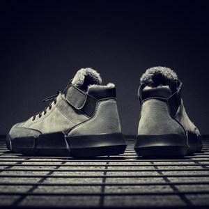冬季雪地靴男士马丁靴加绒保暖棉鞋男靴子高帮男<span class=H>鞋子</span>工装军靴棉靴