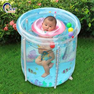安泰婴儿<span class=H>游泳池</span>家用透明充气宝宝游泳桶加厚支架幼儿童小孩洗澡桶