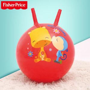 费雪儿童<span class=H>羊角球</span>跳跳球充气玩具加厚幼儿园大号男宝宝弹力球类玩具