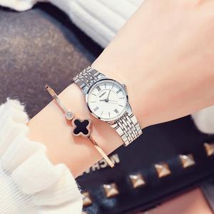 大气品牌女士手表女学生韩版简约石英正品钢带防水时尚潮流女款