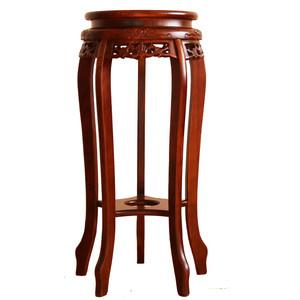 明清古典中式实木<span class=H>花架</span>花几包邮阳台客厅木质手工雕花花瓶架
