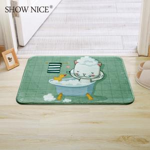 卡通可爱洗澡动物<span class=H>地垫</span> 进门入户脚垫门垫家用厨房浴室门口吸水垫