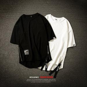 大童男装男童纯棉短袖<span class=H>T恤</span>加肥大码12胖童学生韩版嘻哈街舞体恤15