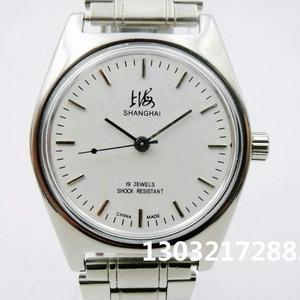 上海牌<span class=H>手表</span>原装正品复古库存7120型19钻机械男士品牌流行简约<span class=H>手表</span>