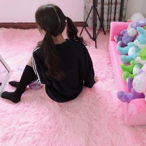 欧式公主房小<span class=H>地毯</span>卧室网红同款床边少女可爱粉ins风房间毛毯地垫