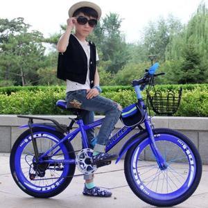 踏板赛车儿童两轮自行车碟刹女娃娃骑行小学生闪光女孩幼儿整车儿