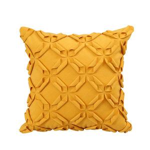 日本高档工艺<span class=H>靠垫</span>套软尚简约现代立体花型装布艺沙发抱枕<span class=H>靠垫</span>