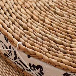 坐垫藤椅垫子草编织苞米叶飘窗玉米皮阳台薄款圆形垫蒲团坐席