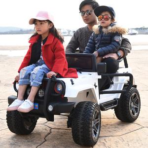 儿童电动车四轮双座越野四驱可坐人摇摆小孩<span class=H>童车</span>宝宝遥控玩具汽车