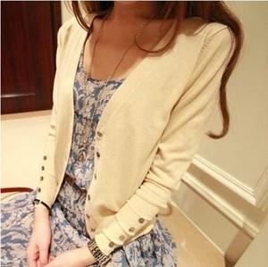 春夏女装短款针织衫开衫中长款韩版薄款线衫外套防晒空调<span class=H>罩衫</span>B