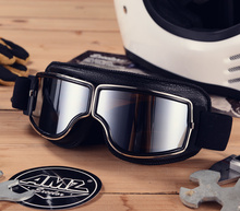 AMZ retro windglasses motorcycle helmet Halley glasses cross-country pilots motorcycle goggles windproof Knight glasses